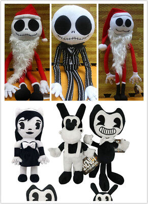 Nightmare Before Christmas Jack Sally Soft Plush Doll Toy Halloween Party Decor