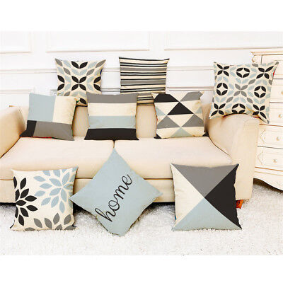 Home Decor Cushion Cover Simple Geometric Throw Pillowcase Pillow Covers 2018