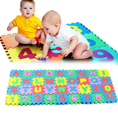 36PCS Baby Kids Alphanumeric Educational Puzzle Blocks Infant Child Toy Gifts