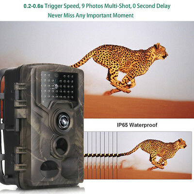 Wateproof Hunting Trail Camera HC-800A Full HD 16MP 1080P Video Night Vision USA