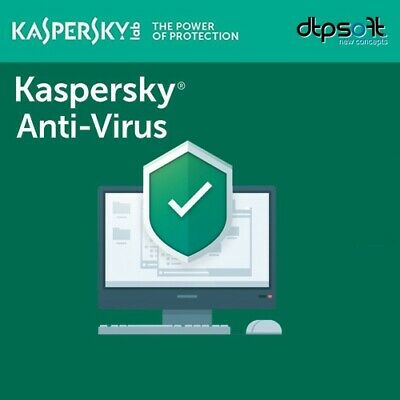 Kaspersky Anti-Virus 2019 - 1 ANNO - 3 PC - 2018  MD IT EU