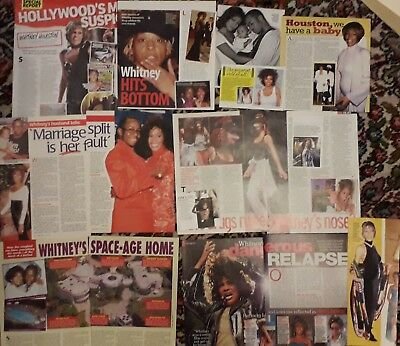Whitney Houston Clippings - Lot 1