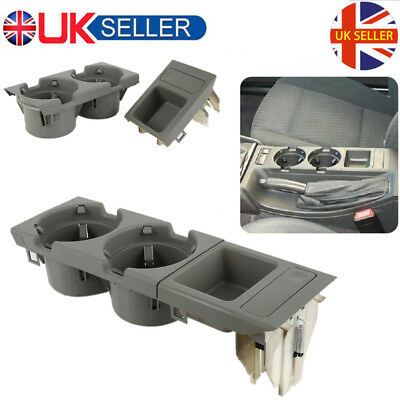 Grey Center Console Cup Holder Coin storage tray for BMW E46 318 320 325 330 UK