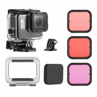 40M Underwater Waterproof Housing Case Dive Filter Kit for GoPro Hero5 6 Black L