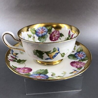 Vintage Royal Chelsea Heavy Gold Floral Bone China Tea Cup and Saucer England