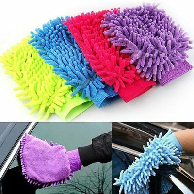 US Microfiber Car Washing Glove Scratch-Free Auto Wash Cleaning Mittens Tools