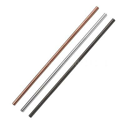 Useful Reusable 304 Stainless Steel Straw Milk Tea Straws with Brush Party V0Y1