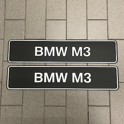 Brand New Genuine BMW M3 Show Plate Set