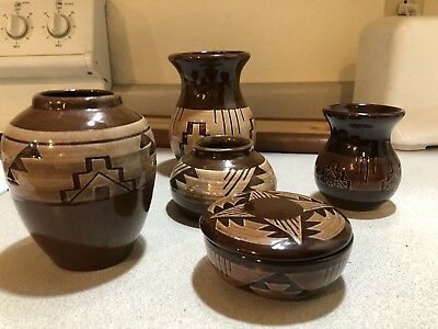Sioux Pottery Lot Of 6 Signed Pieces Instant Collection!