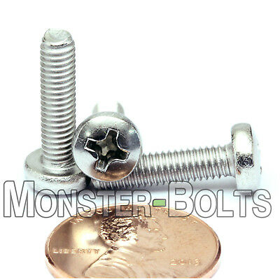 M4 x 18mm  Stainless Steel Phillips Pan Head Machine Screws, Cross Recessed A2