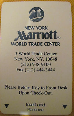 WTC New York City Marriott Hotel World Trade Center Access key card