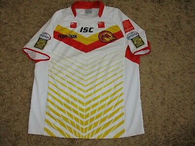 12c057e24 isc CATALANS DRAGONS RUGBY shirt jersey oldschool vintage retro maillot  league