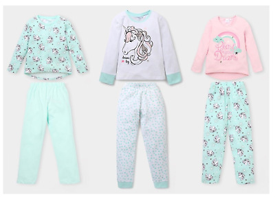 Girls Kids Official Licensed Unicorn Unicorns Long Sleeve Pyjamas PJs