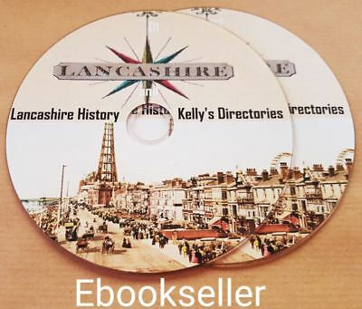 Lancashire local history ebooks, 200 pdf files and kellys directories on 2 discs