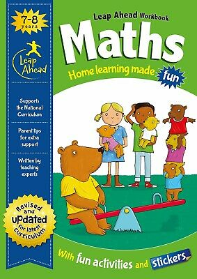 Leap Ahead Maths Workbook From Igloo Books. Childrens Home Learning (Age 7-8)