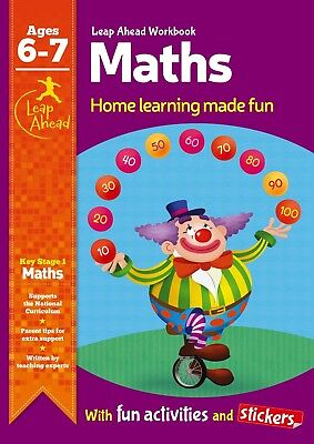 Leap Ahead Maths Workbook From Igloo Books. Childrens Home Learning (Age 6-7)
