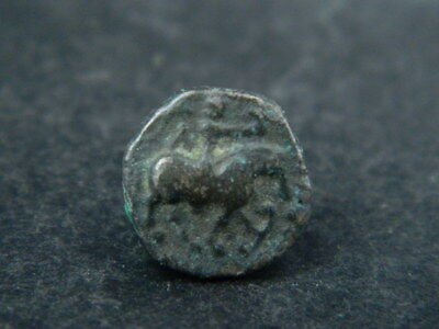 Ancient Bronze Coin Bactrian 100 BC #BR6483