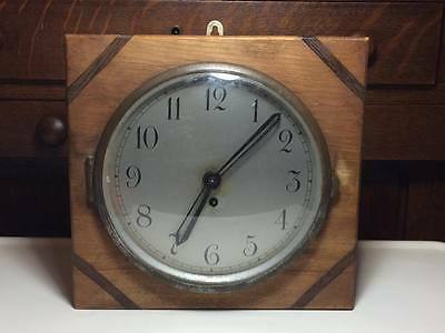 Antique British made wind up wall clock