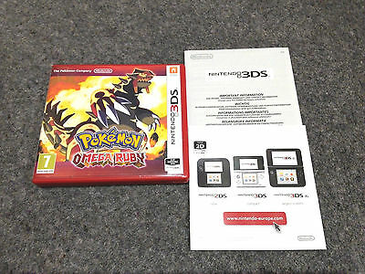 *no Game* Pokemon Omega Ruby Version Case Box & Leaflets Only Nintendo 3Ds 2Ds