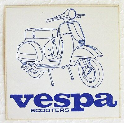 Vespa scooter original 80's vinyl sticker Vespa P-Series PX P200 NOS promo item