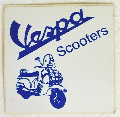 Vespa scooter original 80's vinyl sticker mod flyscreen NOS promo item