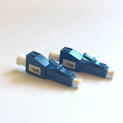 2 x LC/UPC Fiber Optic Attenuator: 10dB