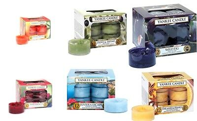 Yankee Candles *offer* 2X Box Of 12 Scented Tealights New Aroma Home Xmas Gift