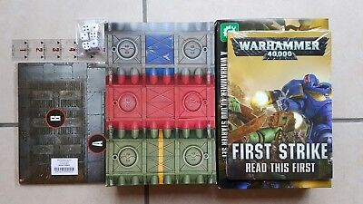 WARHAMMER 40K FIRST Strike rulebook, unit cards, ruler, dice, playing mat  etc
