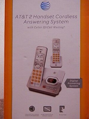 At&t 2 Handset Cordless Answering System With Caller Id/call Waiting #el52203