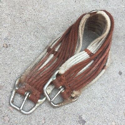 Vtg Horse Tack Saddle Rope Cinch Belly Strap Western Rope Decor PRIORITY MAIL b
