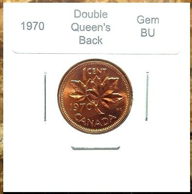 Canada 1970 *Double Queen's Back* Small Cent Gem BU!!
