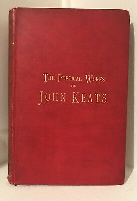 1800's Victorian Antique Book -Poetical Works of John Keats By William B Scott