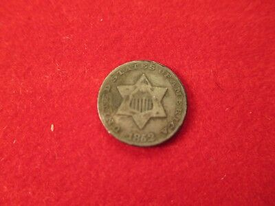 1852 3 Cent Silver Free Shipping Vf