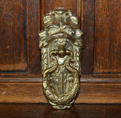 Antique French Brass Lion Head Door Knocker Hardware
