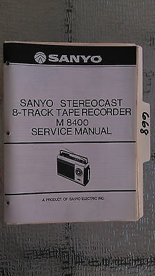 sanyo vintage original stereocast 8 track tape recorder m 8400 rh picclick com Cell Phone Sanyo 8400 Cell Phone Sanyo 8400