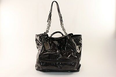 79f8e0919a Black And Silver Authentic Women s Dolce   Gabbana Patent Leather Travel Bag
