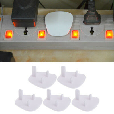 5Pcs UK Power Kids Socket Cover Baby Child Guard Protector Mains Point Plug