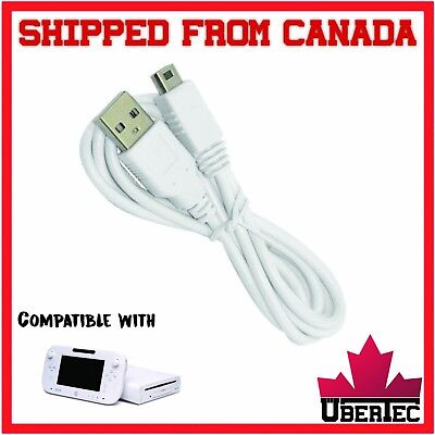 USB Charger Cable For WII U Gamepad Controller Data WIIU Game Pad Charge Cable