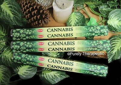 CANNABIS INCENSE STICKS~Hem Hexagonal Pack of 20 Sticks Wicca Smudge Pagan