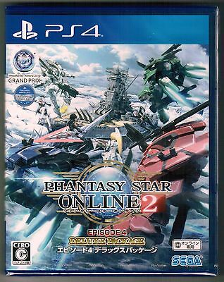 PS4 Phantasy Star Online 2 Episode 4 Deluxe Package w/ BONUS DLC PSO2 JAPAN F/S