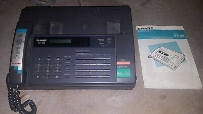 Sharp Facsimile UX-103, Fax Machine Black USED WORKING CONDITION