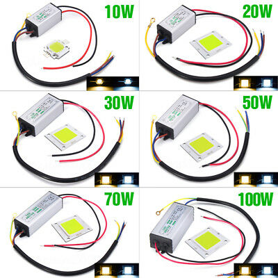 10W 20W 30W 50W 70W 100W LED Chip Bulb Driver Power Waterproof Supply High SMD