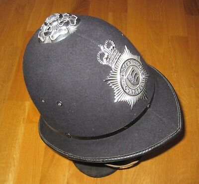 Helm Police Bobby Helmet Polizeihelm GB England Essex Constabulary 6 7/8 UK
