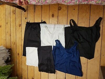 Job Lot of  Six Vntage lingerie items Rework or Repair slips (Z41)
