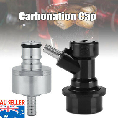6 x 3cm Homebrew Stainless Carbonation Cap Carbonator with Liquid Ball Lock Hot