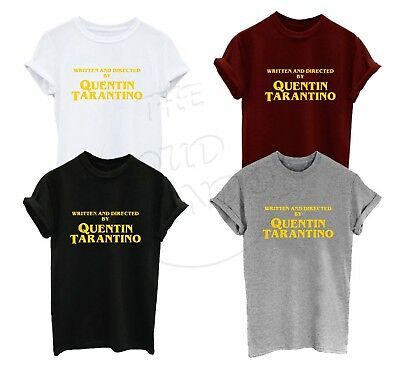 Written and Directed by Quentin Tarantino Cool Unisex T-shirt