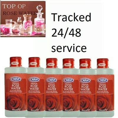 Pack Of  12 X 200Ml Pure Rose Water - Top Op -Top Quality