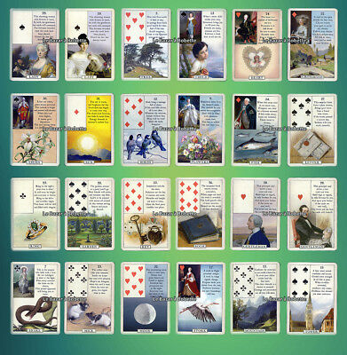 TAROT-JEU de CARTES DIVINATOIRE-ORACLE BLUE BIRD LENORMAND Expanded 38 Cartes