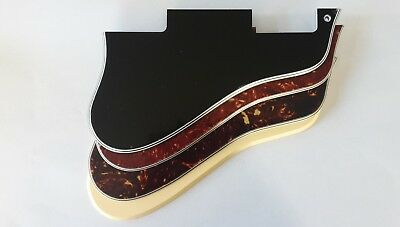Short ES 335 guitar pickguard 5ply black, tortoise or cream fits gibson new
