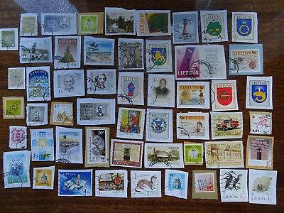 used stamps of Lithuania Lituania Lituanie Litauen - stamps on paper KILOWARE
